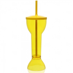 Copo Personalizado  Yard Prime - 550ml (Leitoso ou Cristal) Amarelo