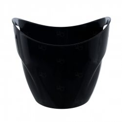 Balde De Gelo Personalizado - 7,5 L (Leitoso ou Cristal) Preto