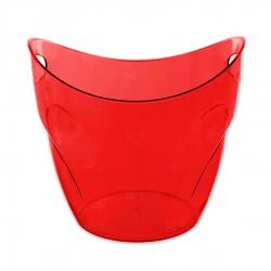 Balde De Gelo Personalizado - 7,5 L (Leitoso ou Cristal) Vermelho