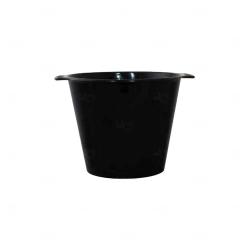 Balde De Gelo Personalizado - 4,5 L (Leitoso ou Cristal) Preto