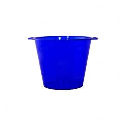 Balde De Gelo Personalizado - 4,5 L (Leitoso ou Cristal) Azul