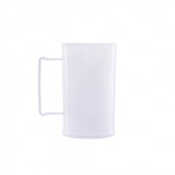 Caneca Personalizada De Chopp - 500ml (Leitosa ou Cristal) Branco