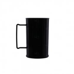 Caneca Personalizada De Chopp - 500ml (Leitosa ou Cristal) Preto
