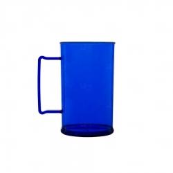 Caneca Personalizada De Chopp - 500ml (Leitosa ou Cristal) Azul Marinho