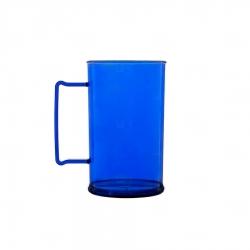 Caneca Personalizada De Chopp - 500ml (Leitosa ou Cristal) Azul
