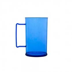 Caneca Personalizada De Chopp - 500ml (Leitosa ou Cristal) Azul Claro