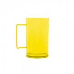 Caneca Personalizada De Chopp - 500ml (Leitosa ou Cristal) Amarelo