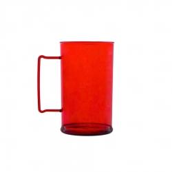 Caneca Personalizada De Chopp - 500ml (Leitosa ou Cristal) Vermelho