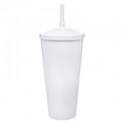 Copão C/ Canudo Personalizado - 1 L (Leitoso ou Cristal) Branco
