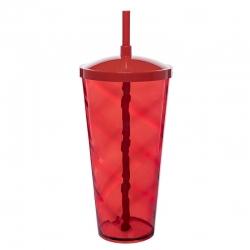 Copão C/ Canudo Personalizado - 1 L (Leitoso ou Cristal) Vermelho