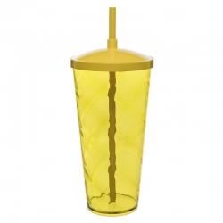 Copão C/ Canudo Personalizado - 1 L (Leitoso ou Cristal) Amarelo