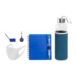 Kit Welcome Back Personalizado - 5 Peças Azul
