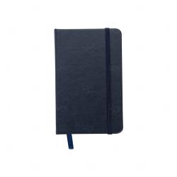 Caderneta Tipo Moleskine Personalizada - 14,4 x 8,8 Azul