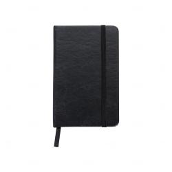 Caderneta Tipo Moleskine Personalizada - 14,4 x 8,8 Preto