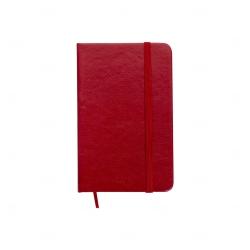 Caderneta Tipo Moleskine Personalizada - 14,4 x 8,8 Vermelho