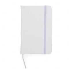 Caderneta Tipo Moleskine Personalizada - 14,4 x 8,8 Branco