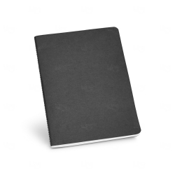 Caderno Cartão Personalizado - 21 x 14 cm Preto