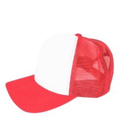 Boné Trucker Personalizado com Frente Branca Vermelho