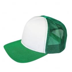 Boné Trucker Personalizado com Frente Branca Verde