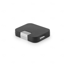 Hub USB Personalizado - 4 Portas Preto