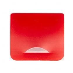 Porta Máscara Plástico Personalizado Vermelho