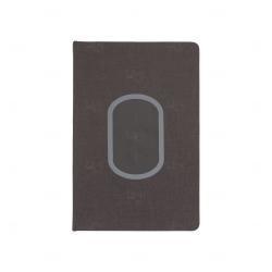 Caderno Carregador Indução Personalizado Preto