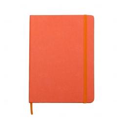 Caderneta Tipo Moleskine Personalizada - 21 x 14 cm Laranja