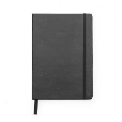 Caderneta Tipo Moleskine Personalizada - 21 x 14 cm Preto
