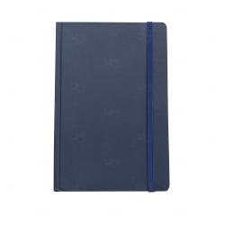 Caderneta Tipo Moleskine Personalizada - 21 x 14 cm Azul Marinho