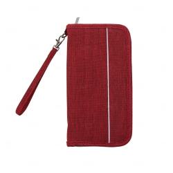 Carteira de Nylon Impermeável Personalizada Vermelho