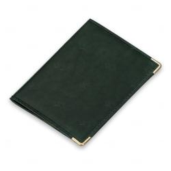 Porta Documento em Couro Sintético Personalizado Verde Escuro
