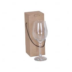 Kit Taça Vinho de Vidro Personalizada - 385 ML