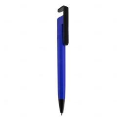 Caneta Plástica Personalizada Azul