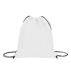 Sacochila TNT Personalizada - 38x33 cm Branco