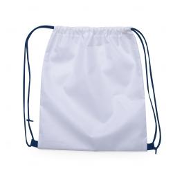 Mochila Saco em Nylon Personalizada - 41x36 cm Azul