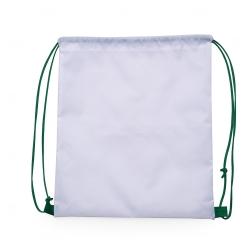 Mochila Saco em Nylon Personalizada - 41x36 cm Verde