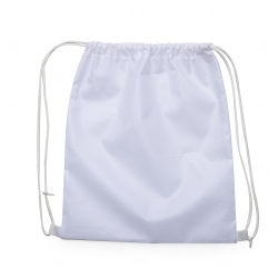 Mochila Saco em Nylon Personalizada - 41x36 cm Branco