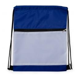 Mochila Saco Sublimática em Nylon Personalizada - 41,5x34 cm Azul