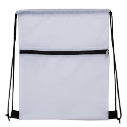 Mochila Saco Sublimática em Nylon Personalizada - 41,5x34 cm Branco