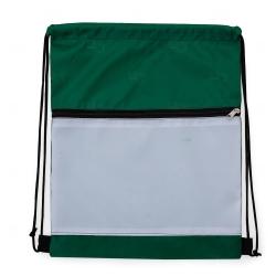 Mochila Saco Sublimática em Nylon Personalizada - 41,5x34 cm Verde