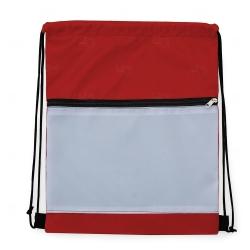 Mochila Saco Sublimática em Nylon Personalizada - 41,5x34 cm Vermelho