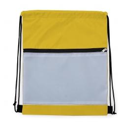Mochila Saco Sublimática em Nylon Personalizada - 41,5x34 cm Amarelo