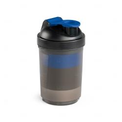 Coqueteleira Com Porta Suplementos Personalizada - 630ml Azul