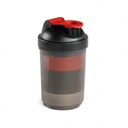 Coqueteleira Com Porta Suplementos Personalizada - 630ml Vermelho