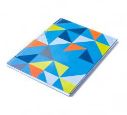 Caderno Personalizado  Capa Dura Couché - 24 x 18cm Amarelo Azul