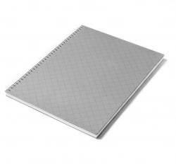 Caderno Personalizado  Capa Dura Couché - 24 x 18cm Cinza