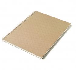 Caderno Personalizado  Capa Dura Couché - 24 x 18cm Marrom