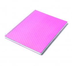Caderno Personalizado  Capa Dura Couché - 24 x 18cm Rosa