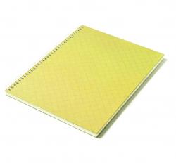 Caderno Personalizado  Capa Dura Couché - 24 x 18cm Amarelo