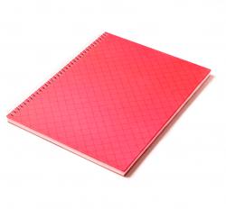 Caderno Personalizado  Capa Dura Couché - 24 x 18cm Vermelho